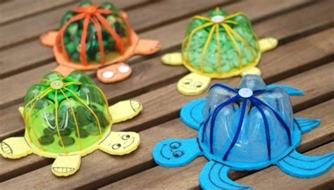 best kid crafts recycled plastic bottles into lovely turtles home design