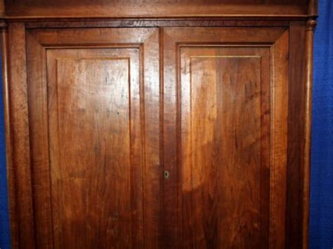 cherry wood armoire wardrobe large antique cherry wood knockdown wardrobe armoire