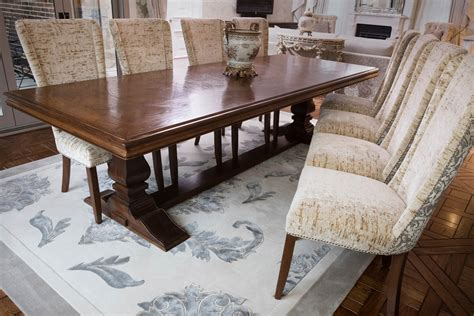 kt 1 table timeless interior design parquetry dining table with bespoke chairs timeless