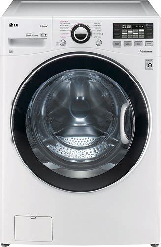 lg 4 0 cu ft 12 cycle high efficiency steam front loading washer white wm3470hwa best buy