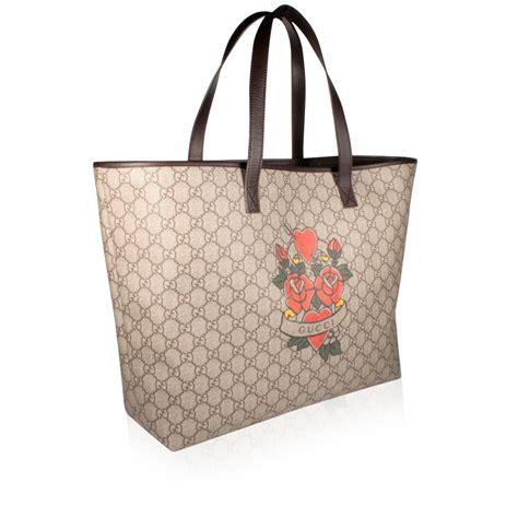 Bag Gucci Brown Kode 6138 gucci handbag s brown tote shopper gg logo pattern