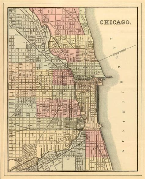 us map with cities chicago chicago maps and vintage maps on pinterest