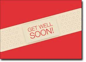 Gt business greeting cards gt get well cards gt get well soon band aid
