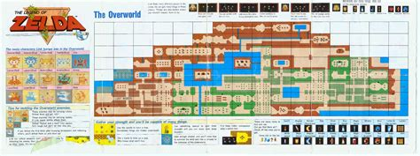 legend of zelda wall map nes zelda map foldout video game nostalgia pinterest