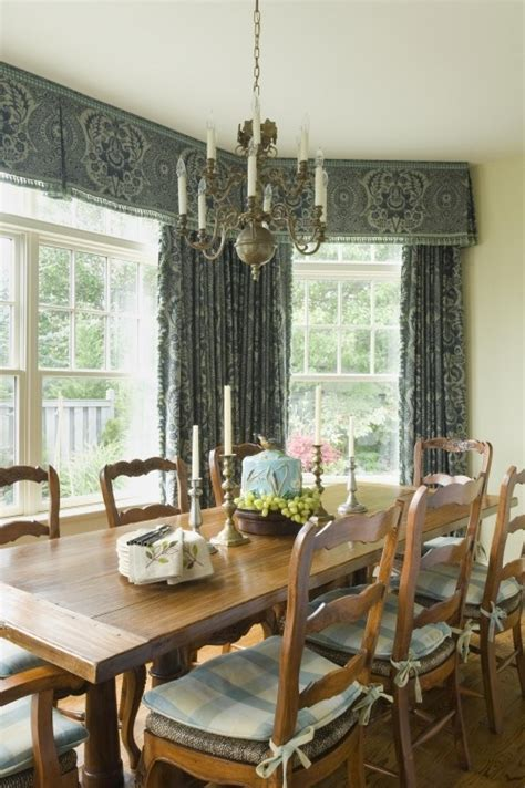 dining room valances inverted pleat valance bay window treatment inspiration