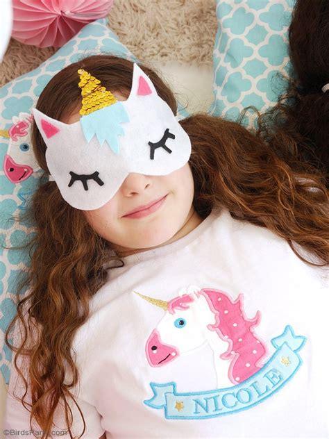unicorn sleep no sew diy unicorn sleeping masks with free template