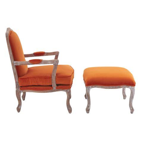 burnt orange armchair baroque armchair footstool black grey orange velvet fads