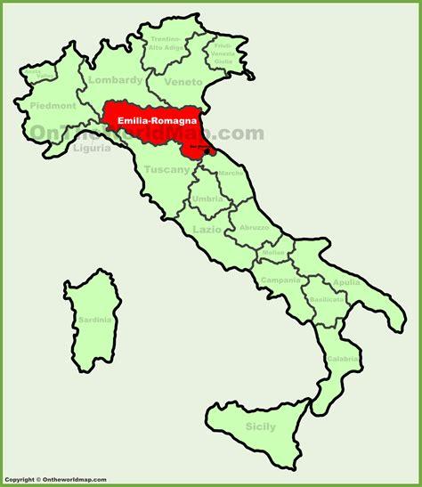 in romagna emilia romagna location on the italy map