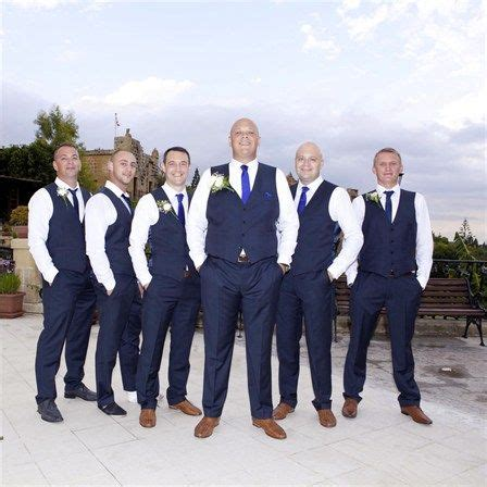 Wedding Attire No Jacket by Navy Groomsmen Vest And No Jacket Wedding