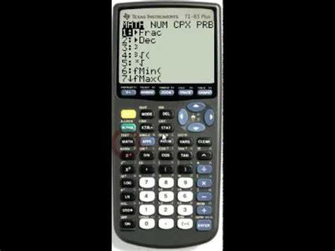 calculator ncr math npr and ncr in the prb menu youtube