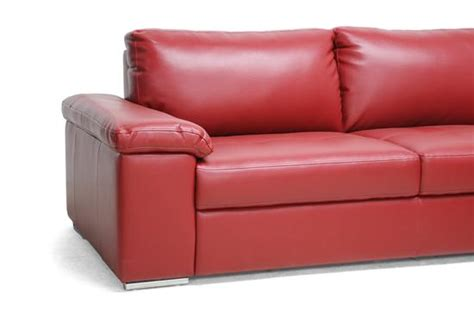 red leather sectional with chaise modern red leather designer chaise lounge 2 piece