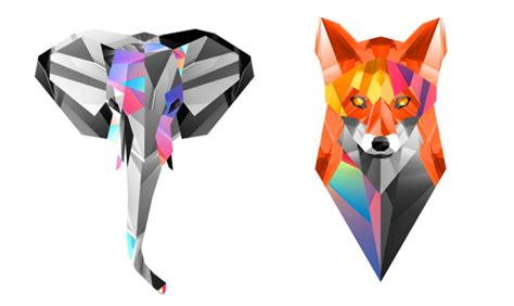 geometric tattoos animals geometric animals elephant fox tattoos