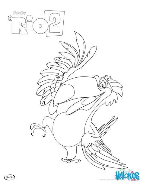 rio 2 rafael coloring pages hellokids com