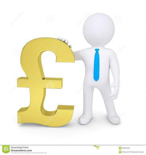 nearest pound white 3d near the gold pound stock photography image 28504542