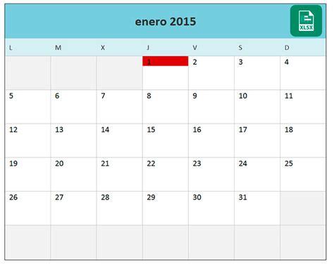 Calendario Por Semanas 2015 Excel Calendario Mensual 2015 En Excel Plantilla Calendario 2015