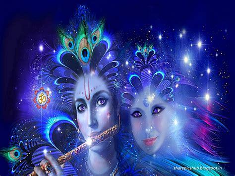 3d wallpaper of lord krishna lord radha krishna 3d wallpaper in blue for desktop