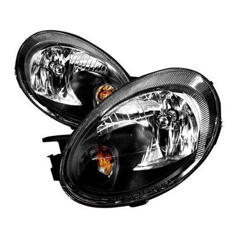 2005 dodge neon headlights 03 05 dodge neon black housing style reflector headlights