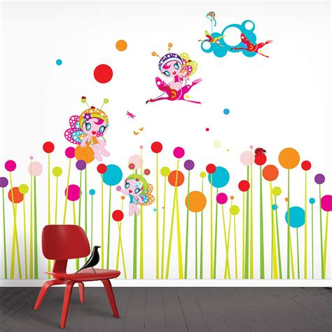 flowers wall stickers flower fairies wall stickers by funky darlings notonthehighstreet