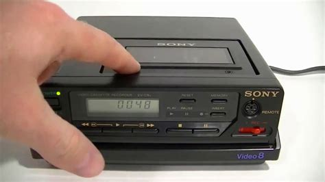 dvd cassette player sony ev c8u vcr 8mm cassette player recorder for