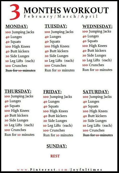 6 week home workout plan best 25 home workout schedule ideas on pinterest 3 week