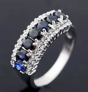 diamond and sapphire wedding bands