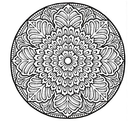 mandala coloring pages advanced level advanced mandala coloring pages the difficult level