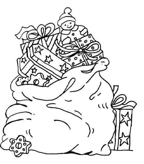 gift bag coloring page coloring page christmas gift bag coloring me