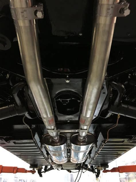 Car Exhaust Types by Fitting Up The New Stainless Exhaust Bridge Classic Cars