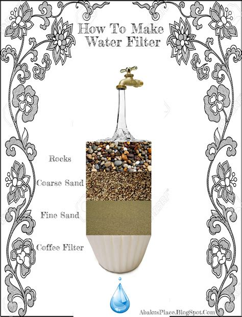 Handmade Water Filter - water filter diy infographics