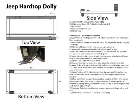 Jeep Hardtop Dolly Diy Hardtop Cart