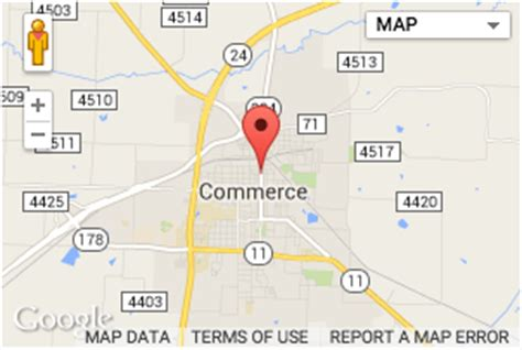 map of commerce texas city of commerce youth sports program