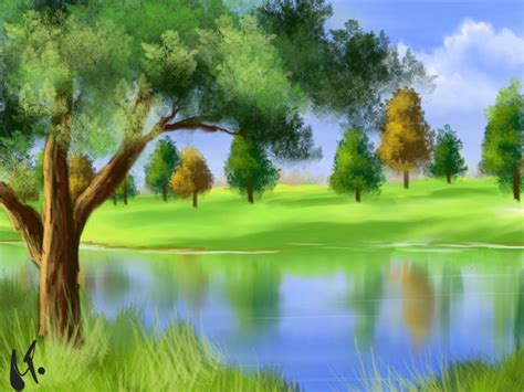 Landscape Pictures To Draw And Paint Landscape In Gimp Paint Studio By Ronnietucker On Deviantart