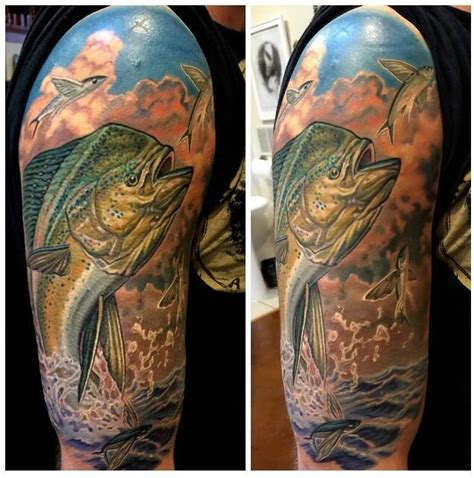 mahi mahi tattoo mahi mahi dolphin fish half sleeve by timothy b boor