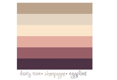 dusty pink l shade color palette dusty rose chagne eggplant spring