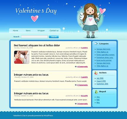 dating wordpress templates for st valentine s day web