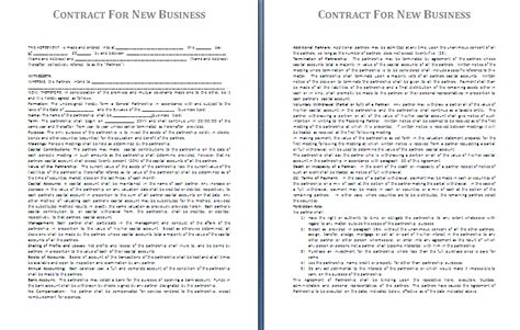 business contract template for partnership sle business contract free printable documents