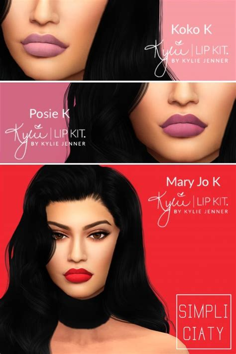 Kylie Sims 4 Lip Kit | kylie lip kit v2 at simpliciaty sims 4 updates the