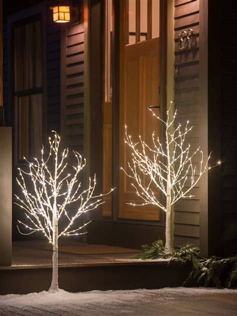decorative birch tree  led lights indoor outdoor