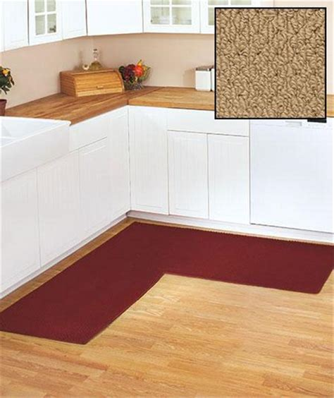 Non Skid Kitchen Rugs Berber Corner Runner Textured Kitchen Rug With Non Skid Backing 68 Quot X 68 Quot Ebay
