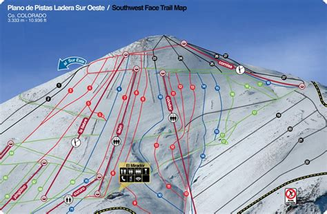 where is el co on map trail map and ski lifts of el colorado ski center