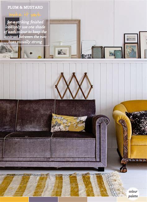 colour palette plum mustard living room bright bazaar taylor