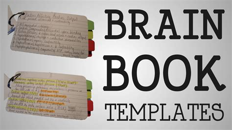 Brain Book Report working brain book templates