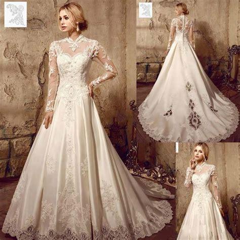 High Designer Wedding Dresses by Designer Illusion Sleeve Wedding Dresses 2016
