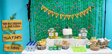 como decorar un salon de selva ideas para fiesta de la selva