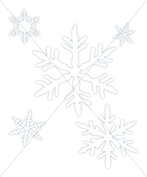 snowflakes in outline snowflake images