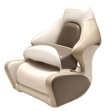 boat bolster seat crownline white beige taupe marine boat captains bolster