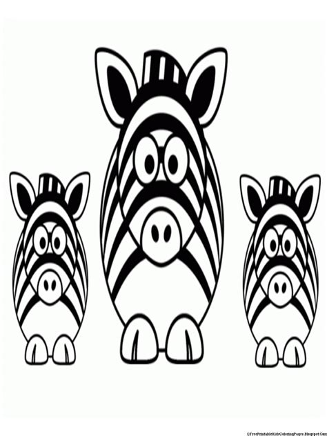 Free Coloring Pages Of Zebra Without Stripes Zebra Without Stripes Coloring Page