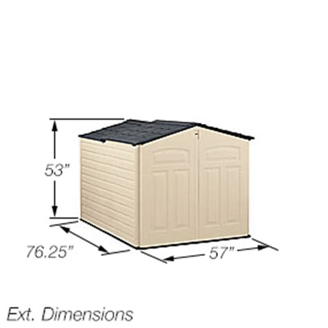 Rubbermaid Resin Slide Lid Shed by View Larger