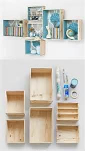 diy wine box shelves para el hogar