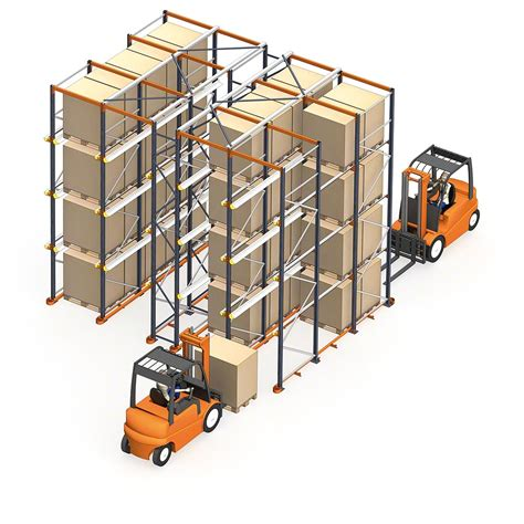 Drive In Drive Through Racking System by Drive In Drive Thru Pallet Racks Interlake Mecalux